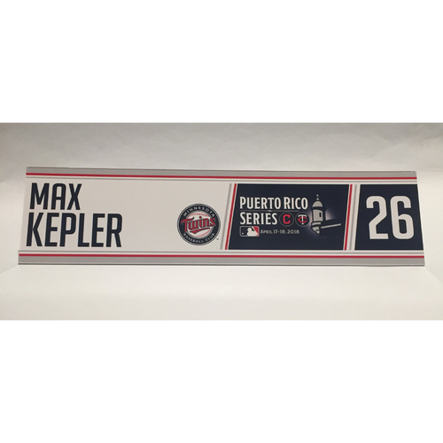 Photo of 2018 Puerto Rico Series - Max Kepler Game-Used Locker Name Plate
