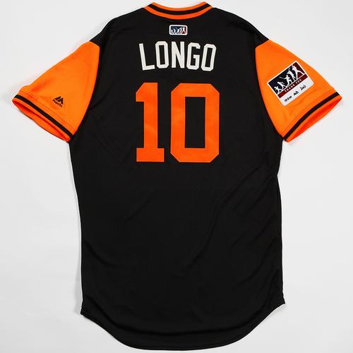"Photo of Evan ""Longo"" Longoria San Francisco Giants Game-Used 2018 Players' Weekend Jersey"