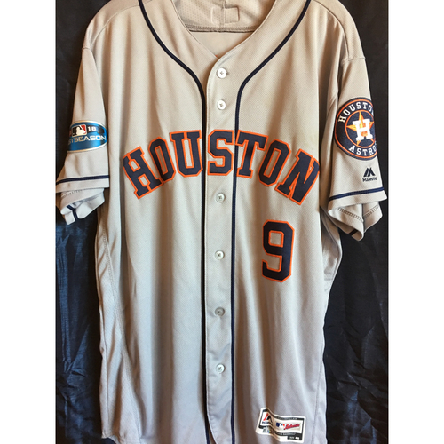 Photo of Marwin Gonzalez Game-Used 2018 Postseason jersey