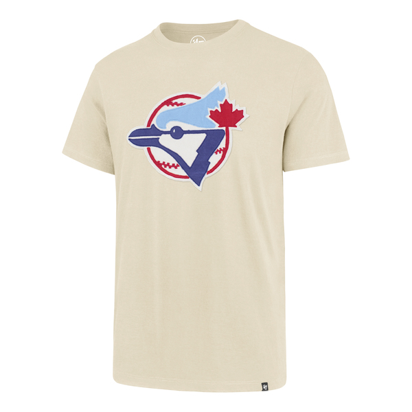 Toronto Blue Jays Knockout Fieldhouse Cream T-Shirt by '47 Brand