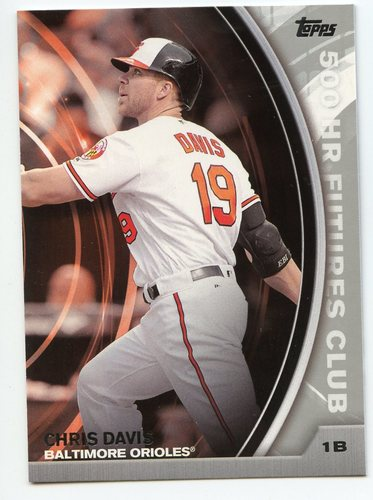 Photo of 2016 Topps Update 500 HR Futures Club Silver #50016 Chris Davis