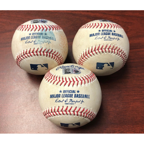 Photo of Game Used Baseball Package: Bo Bichette, Cavan Biggio and Vlad Guerrero Jr. - September 5, 2019 v TOR