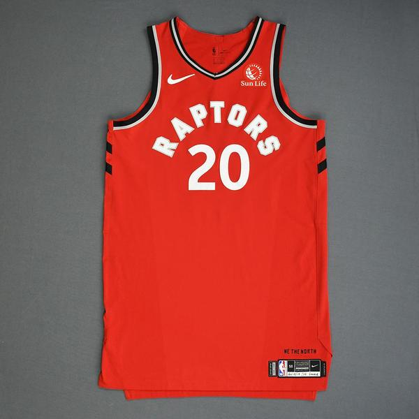 Image of Dewan Hernandez - Toronto Raptors - Game-Worn Icon Edition Rookie Debut Jersey - 2019-20 Season