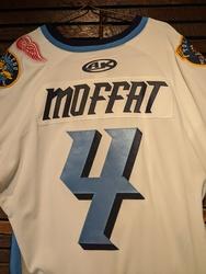 Photo of Mike Moffat Game Worn Toledo Walleye Jersey