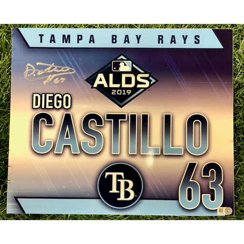 Photo of Rays Baseball Foundation: Game Used Locker Tag: Diego Castillo - ALDS - October 7, 2019 v HOU