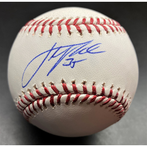 Photo of Justin Verlander Detroit Tigers Autographed Official Major League Baseball (MLB AUTHENTICATED)
