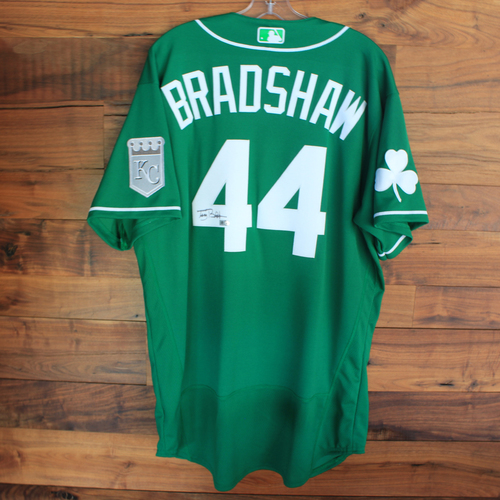 Photo of Autographed 2020 St. Patrick's Day Jersey: Terry Bradshaw #44 - Size 48