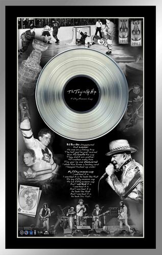 Tragically Hip & Bill Barilko Framed Collage with Platinum LP
