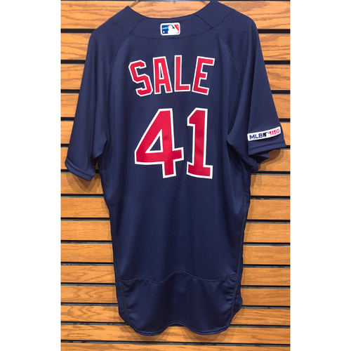 Photo of Chris Sale Team Issued 2019 Road Alternate Jersey