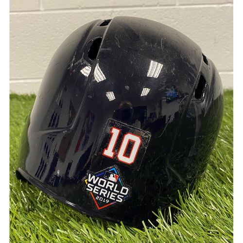 Photo of Yan Gomes Helmet with World Series Decal