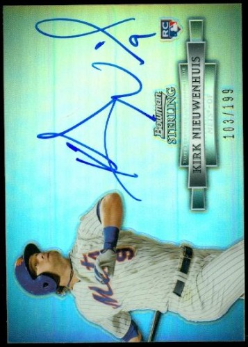 Photo of 2012 Bowman Sterling Rookie Autographs Refractors #KN Kirk Nieuwenhuis