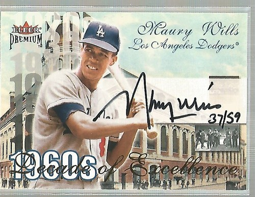 Photo of 2001 Fleer Premium Decades of Excellence Autograph #20 Maury Wills/59