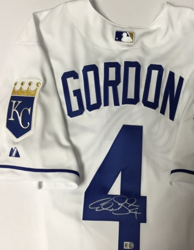 Photo of Alex Gordon Autographed Authentic Royals Jersey