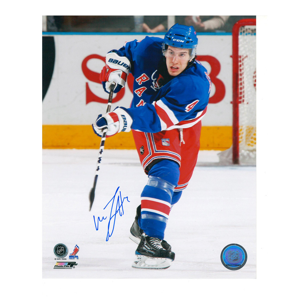 MICHAEL DEL ZOTTO Signed New York Rangers 8 X 10 Photo - 70473
