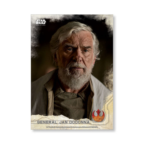 General Jan Dodonna 2016 Star Wars Rogue One Series One Base Poster - # to 99