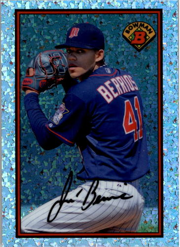 Photo of 2014 Bowman '89 Bowman is Back Silver Diamond Refractor Jose Berrios