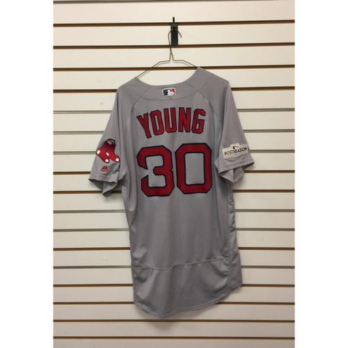 Photo of Chris Young Game-Used September 23, 2017 Road Jersey