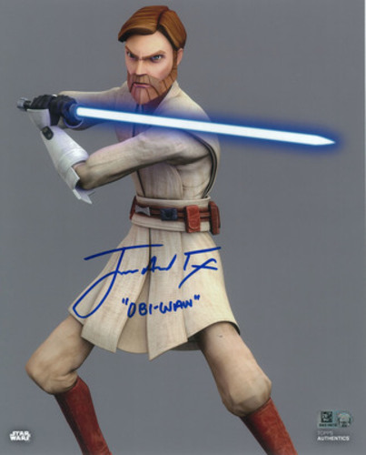 James Arnold Taylor as Obi-Wan Kenobi 8x10 Autographed Inscribed