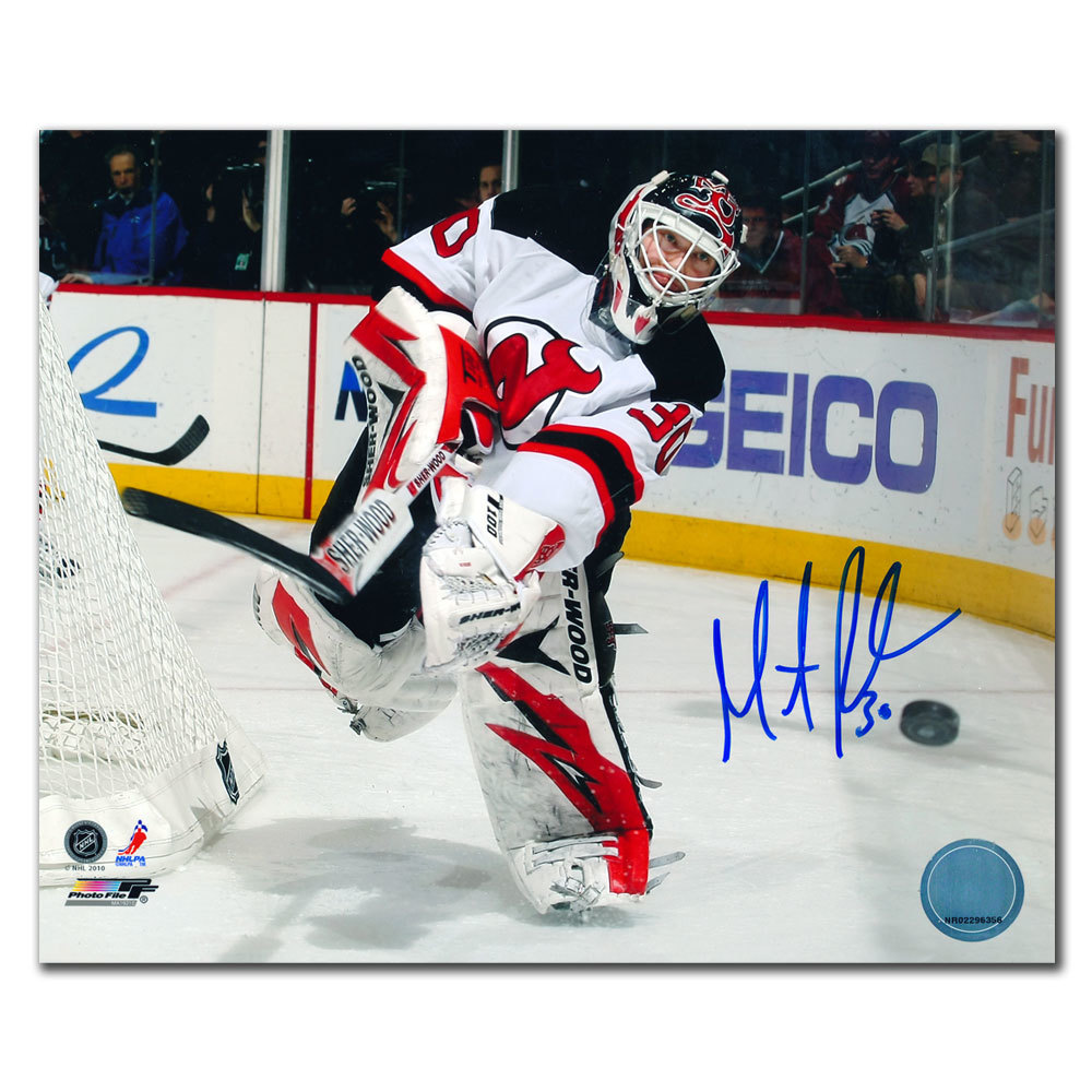 Martin Brodeur New Jersey Devils Action Autographed 8x10 Nhl Auctions
