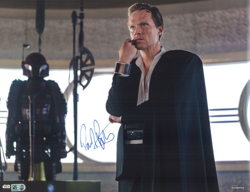 Paul Bettany as Dryden Vos 11x14 Autographed in Blue Ink Photo
