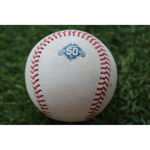 Photo of Game-Used Baseball: Jose Iglesias 594th Career Hit (DET @ KC - 8/29/18)