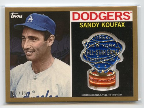 Photo of 2017 Topps MLB All Star Logo Patch Gold #ASLSK Sandy Koufax 35/75