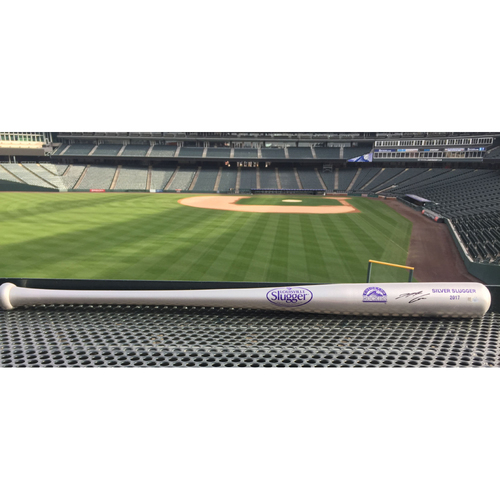 Photo of Colorado Rockies Autographed Bat - Nolan Arenado - 2017 Silver Slugger Bat