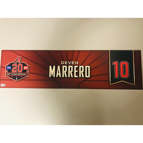 Photo of Deven Marrero Team-Issued 2018 Nameplate