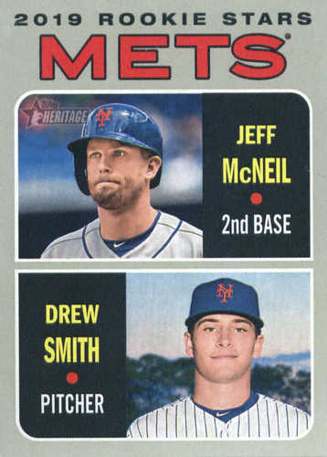 Photo of 2019 Topps Heritage #348 Jeff McNeil RC/Drew Smith RC