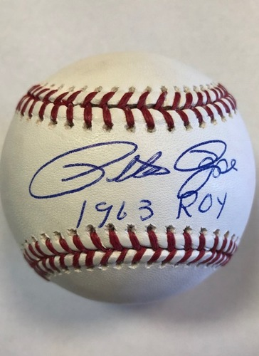"Photo of Pete Rose ""1963 ROY"" Autographed Baseball"