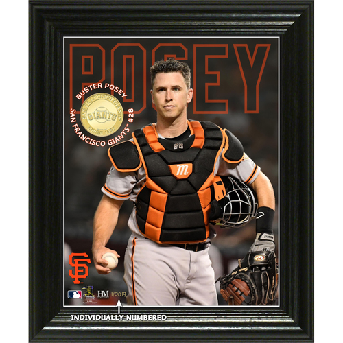 Photo of Buster Posey Elite Series Bronze Coin Photo Mint