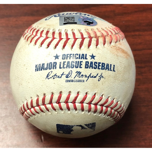 Photo of Game Used Baseball: Anthony Kay (MLB DEBUT) strikes out Austin Meadows - September 7, 2019 v TOR