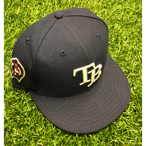 Photo of Game Used Cap: Diego Castillo (size 7 3/4)  - September 11, 2019 at TEX