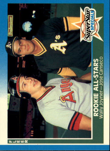 Photo of 1987 Fleer #628 Wally Joyner/Jose Canseco