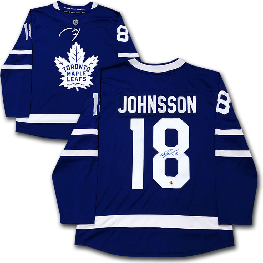 Andreas Johnsson Autographed Toronto Maple Leafs Fanatics Jersey