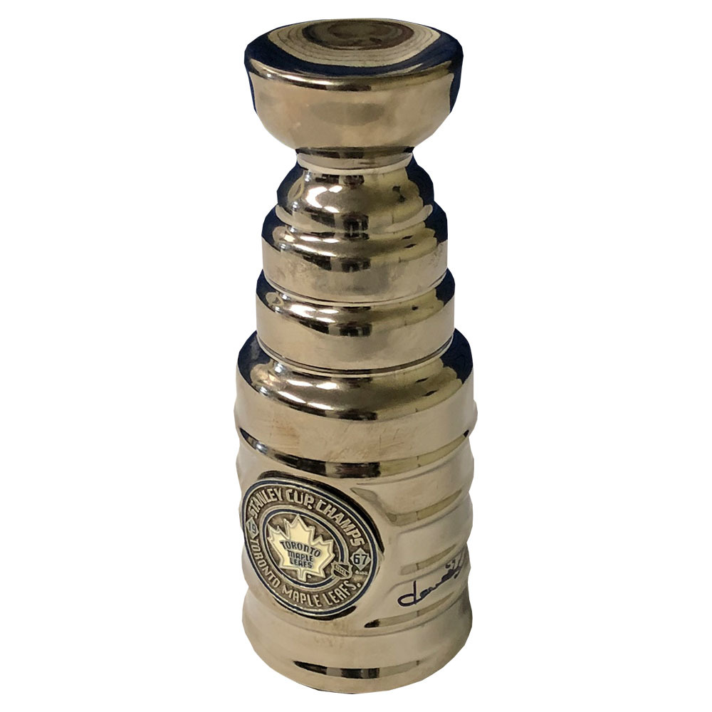Dave Keon Autographed Toronto Maple Leafs Commemorative 1967 Mini-Stanley Cup
