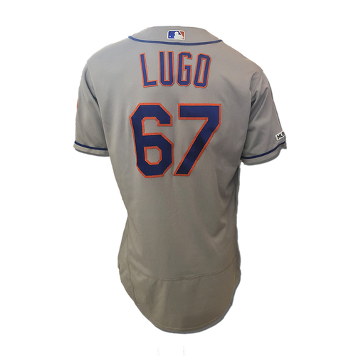 Photo of Seth Lugo #67 - Game Used Road Grey Jersey - Mets vs. Reds - 9/20/19