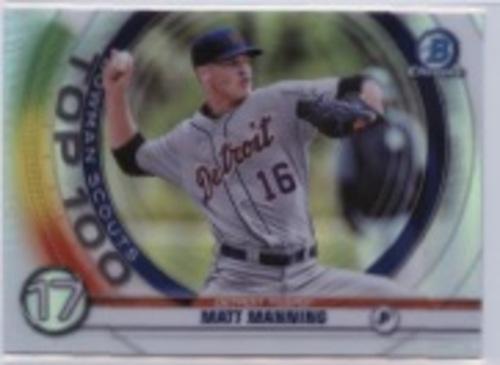 Photo of 2020 Bowman Chrome Scouts Top 100 #BTP17 Matt Manning