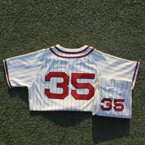Photo of Autographed/Game-Used Monarchs Jersey & Team-Issued Pants: Greg Holland #35 (STL @ KC 9/22/20)