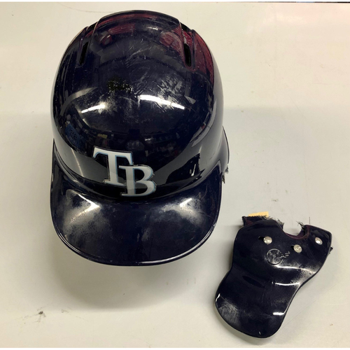 Photo of Game Used Home Run Helmet: Mike Zunino (3HR, 4R, 5H, 5RBI) - April 22-23, 2019 v KC and July 5, 2019 v NYY