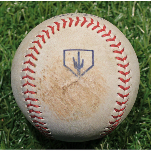 Photo of Game-Used 2019 Spring Training Baseball: Kevin McCarthy Strikeout (KC @ OMA 3/25/19)