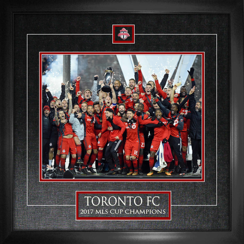 11x14 Toronto FC MLS Cup Champions Etched Mat Photo Framed