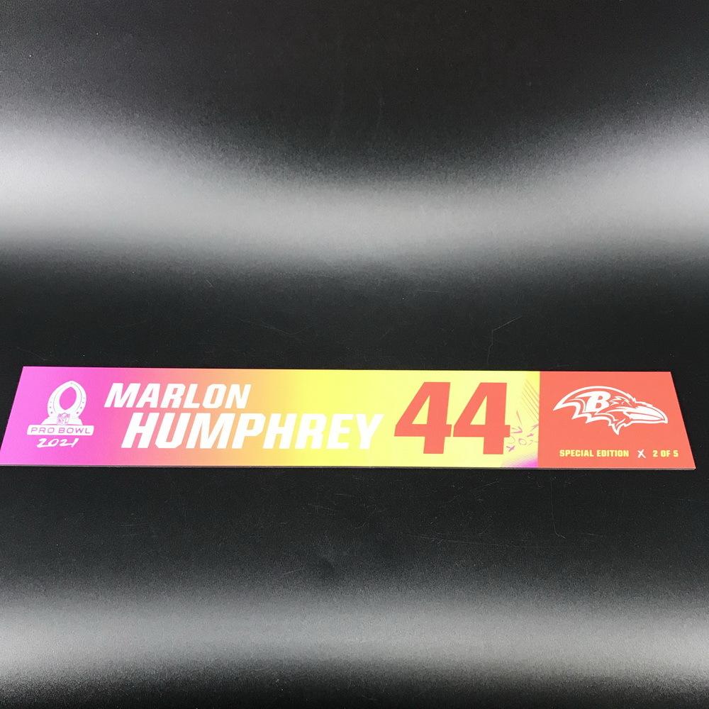 NFL - Ravens Marlon Humphrey 2021 Pro Bowl Locker Nameplate Special Edition #2 of 5