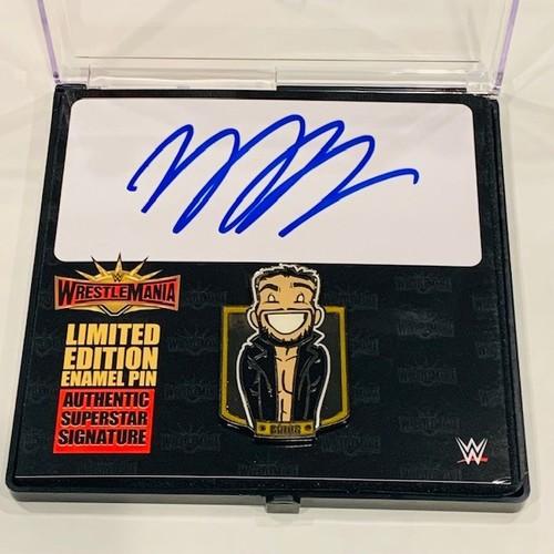 Photo of Finn Balor SIGNED WrestleMania 35 Cartoon Pin