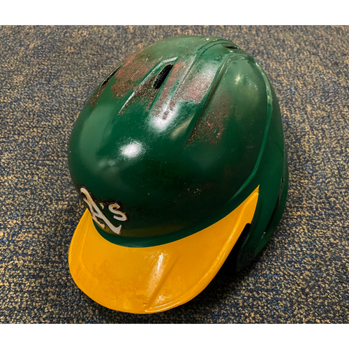 Photo of Game-Used Helmet - Mark Canha (Authenticated for 2020 reg season, 2020 ALDS & 2021 season)