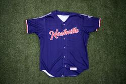 Photo of #58 Game Worn Navy Jersey, Size 46, worn by Zack Brown.