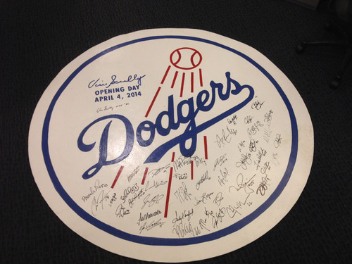Vin Scully & the Los Angeles Dodgers Autographed First Pitch Mound