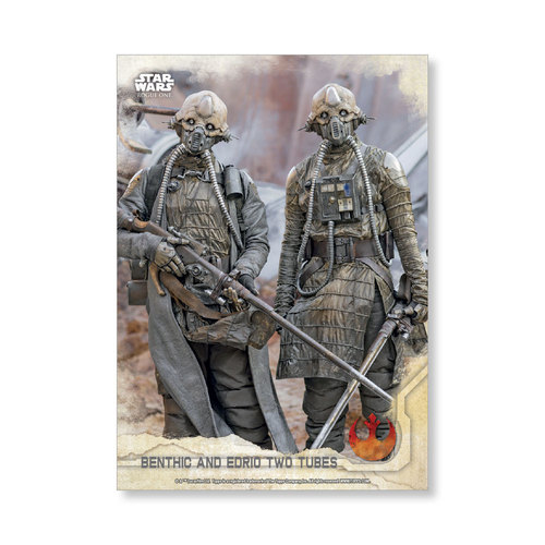 Benthic and Edrio Two Tubes 2016 Star Wars Rogue One Series One Base Poster - # to 99