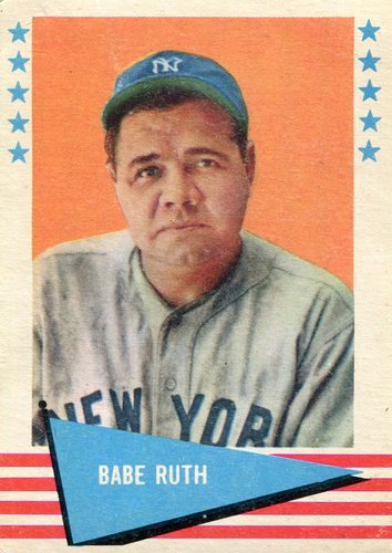 Photo of 1961 Fleer #75 Babe Ruth -- Hall of Fame Class of 1936