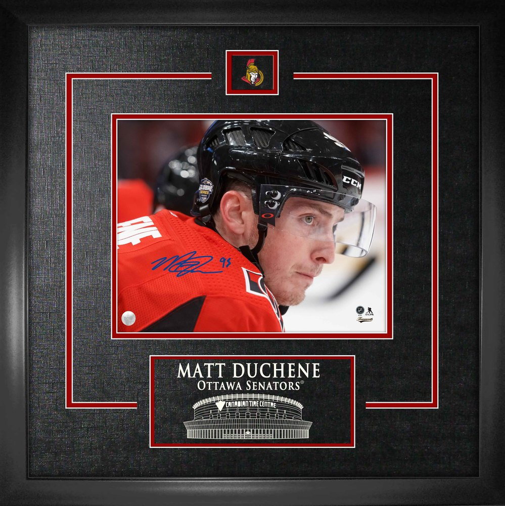 Matt Duchene - Signed 8X10 Etched Mat Senators Close-up